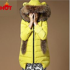 Winter Parka Women Clothing Hooded Cat Ears Casual Winter Jacket Winter Clothing New Women Winter Jackets Fur Collar Coat Down-in Down & Parkas from Women's Clothing & Accessories on Aliexpress.com   Alibaba Group US $51