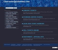 Blockbuster musical event in Clearwater.  Clearwater Jazz Holiday.  The website 'clearwaterjazzholiday.com' courtesy of @Pinstamatic (http://pinstamatic.com)