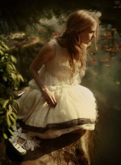 Art,Beautiful,Beauty,Dress,Fairytale,Fashion,Forest,Whimsical,Lilly pads,Photography,