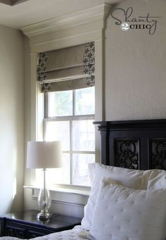 DIY roman shades ... perfect solution for bedrooms where you don't really want drapes or blinds