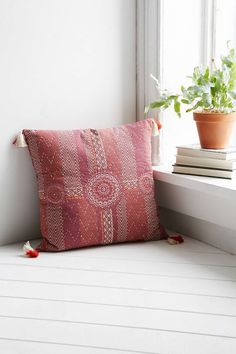 Magical Thinking Suraja Kantha Pillow // good colors for the apartment