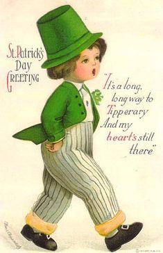 Vintage St. Patrick's Day postcard, illustrated by Ellen Clapsaddle
