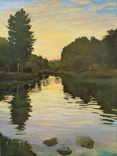 Landscape Drawings, Watercolor Landscape, Landscape Paintings, Watercolor Artists, Landscape Art, Watercolor Painting, Landscapes, Sunset Landscape, Green Landscape