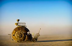 """The Golden Mean,"" art car by Jon Sarriugarte and Kyrsten Mate, Burning Man, 2010. [photo by Luke Szczepanski] Burning Man"