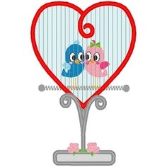 Love Birdcage Applique - 3 Sizes!   Tags   Machine Embroidery Designs   SWAKembroidery.com Band to Bow