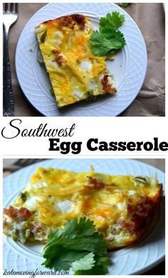 Southwest Egg Casserole - An easy make ahead breakfast casserole that is perfect for busy holiday mornings! So good and quick to make! Sponsord by Bigelow tea.