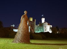 The incredible Wicker Woman at Stornoway Castle on Lewis...