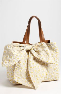 RED Valentino Bow Tote available at #Nordstrom.  This is so feminine and summery.