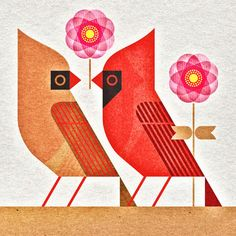 scott partridge - state bird and flower - Indiana - Cardinal and Peony