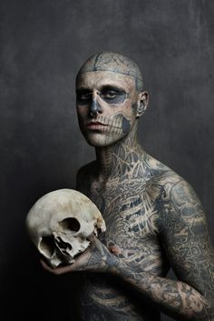 Image of Rick Genest Cover Shoot for Rebel Ink Magazine (NSFW)