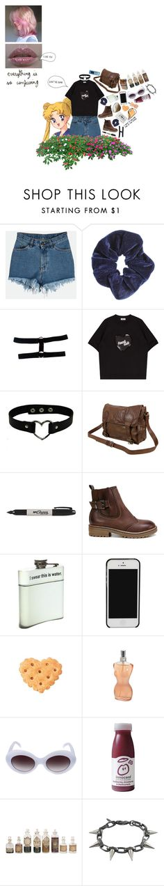 """""""📃"""" by ideallylovely ❤ liked on Polyvore featuring Miss Selfridge, VIPARO, Sharpie, CASSETTE, Jean-Paul Gaultier, Illesteva and Joomi Lim"""