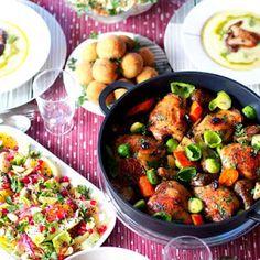 Święta BożegoNarodzenia. Co podać na świąteczny obiad? Kung Pao Chicken, Finger Foods, Lunch, Ethnic Recipes, Tortellini, Impreza, Coleslaw, Christmas, Cooking