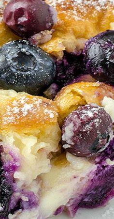 Blueberry Cream Cheese Croissant Puff