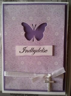 konfirmation indbydelse - Google-søgning Butterfly Cards, Holidays And Events, Lily, Tobias, Handmade, Google, Creative, Decorations, Hand Made