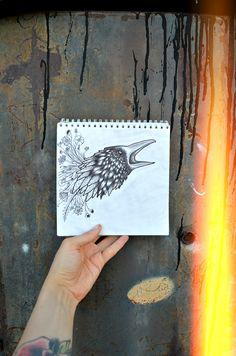 My sadness is just a bunch of flowers << by Victoria Storm #art #artwork #blackwork #darkart #linework #darkartists #blackart #instaart #picture #sketchbook #sketch #minimalism #flowers #crow #picoftheday #drawing #iblackwork #flashaddicted #inkspired #inked #blackandwhite #tattooart #victoriastorm #арт #блэкворк #лайнворк #рисунок #скетч #скетчбук #чернобелое #ворон