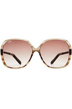 9d9288c41 The brown braided leather arms of these Tod's sunglasses are a polished  accent to the oversize