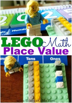 Teach the kids base ten place value using LEGO bricks! Simple and easy math lesson that makes an abstract concept concrete.