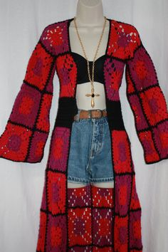 Vintage 60 70s hippie Bohemian Patchwork by PitzicatVintage, $150.00