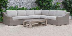 Florida Outdoor Rattan Corner Sofa Set