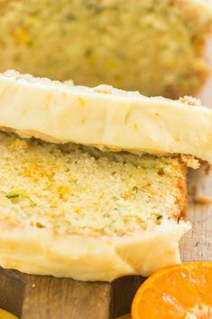 Orange Zucchini Bread with Orange Glaze! Intensely moist, sticky sweet orange zucchini bread with a fresh orange glaze! Baked Zuchinni Recipes, Easy Zucchini Bread, Chocolate Zucchini Bread, Banana Bread Recipes, Orange Zucchini Bread Recipe, Zuchinni Bread, Zucchini Cake, Amish Recipes, Quick Bread
