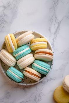 Easy Macaron Recipe For Beginners, Recipes For Beginners, French Macaroon Recipes, French Macaroons, Basic French Macaron Recipe, Macarons, Cookie Recipes, Dessert Recipes, Gourmet Recipes