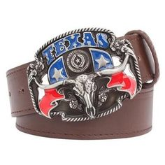 The Collectible Belt TEXAS Cowboy Belt Buckle with belt