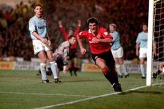 Nov. 7th. 1993 : Manchester City 2 - 3 Manchester United (Cantona 2, Keane) with Roy Keane scoring the winner in his first Manchester derby.