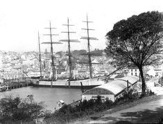Lord Ripon moored at Woolloomooloo Bay,Sydney (year unknown).