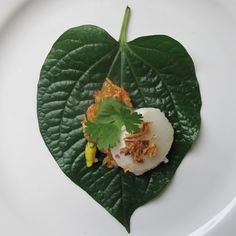 These 'Miang' Betel Leaves of sweet, sour, salty and spicy flavour look beautiful when laid out on a plate ready to be folded up and devoured. Chilli Jam, Sweet Chilli, Cava Sparkling Wine, Beef Strips, Kaffir Lime, Lettuce Leaves, Coriander Leaves, Roasted Peanuts, Shredded Coconut