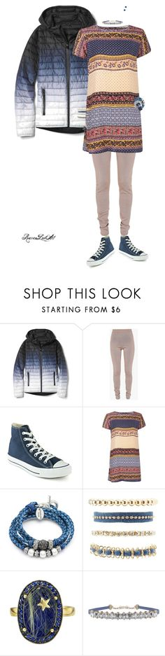 """Untitled #1090"" by ravenleeart ❤ liked on Polyvore featuring Gap, Balmain, Converse, Boohoo, Lizzy James, Charlotte Russe, Andrea Fohrman, Humble Chic, stripes and CasualChic"