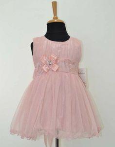 minik gelin:) #pink #dress #baby #nice
