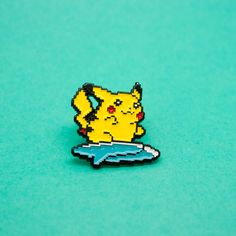 "1"" Soft Enamel Surfing Pikachu PinCELEBRATING THE 20TH ANNIVERSARY OF THE POKEMON FRANCHISE!<3"