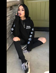 Bad Girl Outfits, Skater Girl Outfits, Edgy Outfits, Mode Outfits, Grunge Outfits, Cute Casual Outfits, Fashion Outfits, Black Outfit Grunge, Black Outfits