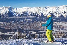 Der Ausblick vom Patscherkofel auf die Stadt & Nordkette. Foto: Innsbruckphoto Innsbruck, Olympia, Ski Touring, Ice Climbing, Cross Country Skiing, Winter Sports, Mount Everest, Mountains, Travel