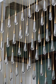 The Pour - a raindrop chandelier installation by Design Haus Liberty