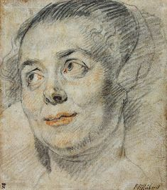 Author: Jacob Jordaens. Drawings, Black and red chalk, 16x14.1 cm. Origin: Flanders, 1630s. Style: Baroque. Source of entry: Collection of E. Shvarts, Petrograd, 1923.