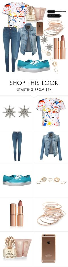 """splatter"" by lisabeebe010 ❤ liked on Polyvore featuring Bee Goddess, Alice + Olivia, River Island, LE3NO, Vans, GUESS, Charlotte Tilbury, Red Camel, Vince Camuto and Marc Jacobs"