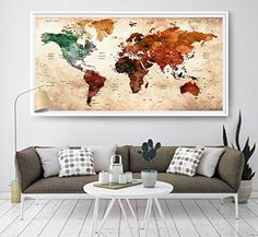 39 best amazon world map images on pinterest world maps extra giant world megamap watercolor large map poster wall ar https gumiabroncs Image collections