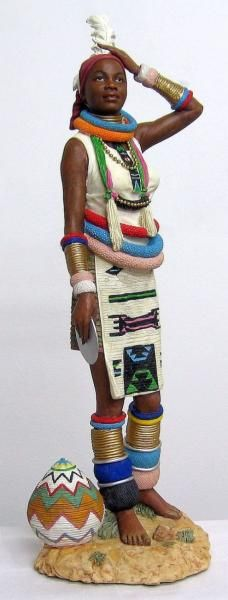 Themba (Ndebele Tribe) African Figurines ZC23701   Products Offered   Auldco African Handcraft