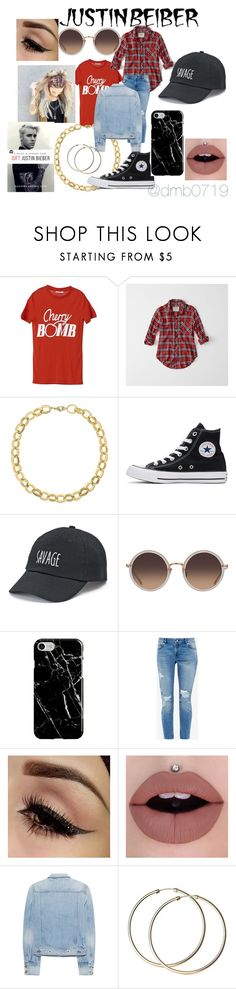 """""""Justin Bieber as a girl..."""" by dmb0719 on Polyvore featuring Ganni, Abercrombie & Fitch, Laundry by Shelli Segal, Converse, SO, Linda Farrow, Recover, Ted Baker and rag & bone"""