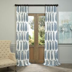 Exclusive Fabrics Paisley Park Printed Cotton Twill Curtain Panel - 17820163 - Overstock - Great Deals on Exclusive Fabrics Curtains - Mobile