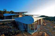 Contemporary Wing House Made From 747 Airplane Parts in Malibu, California