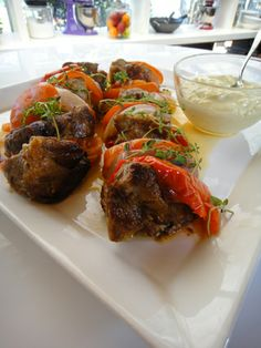 The absolutely perfect kontosouvli Greek Cooking, Greek Recipes, Meatloaf, Main Dishes, Pork, Yummy Food, Beef, Healthy Recipes, Snacks
