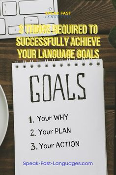 You have a language learning goal and you have converted it into a plan. You are genuinely excited; you have the confidence to start. Now how will you carry on until the language vision you forged for yourself becomes a reality? Your WHY Your PLAN Your ACTION English For Beginners, Things To Do, How To Become, Language, Goals, How To Plan, Learning, Confidence, Action