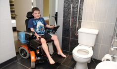 The Stand Up Wheelchair for Kids Works in Tight Spaces Like Bathrooms Make A Family, Assistive Technology, Cerebral Palsy, Disability, Stand Up, Portal, Bathrooms, Parenting, Spaces