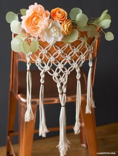 Macrame Wedding Chair Decor
