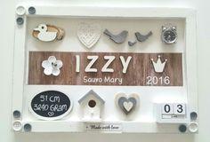 Geboortebord Izzy ● Troetel.com . . . . . . #geboorte #geboortebord #geboorteborden #teksrbord #wandbord #wandborden #decoratie #baby #babykamer #kinderkamer #nurserydecor