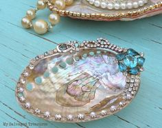 Jeweled Abalone Shells | My Salvaged Treasures | Bloglovin'