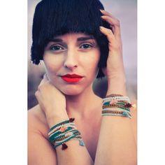 BRACELET INDIA « VERT EMERAUDE » - ila Bella - Bijoux de créateur par Marguerite Campagne