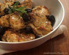 Pane, burro e alici: Coniglio in padella con olive e rosmarino